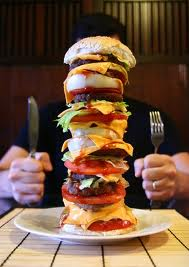 That's one huge burger!