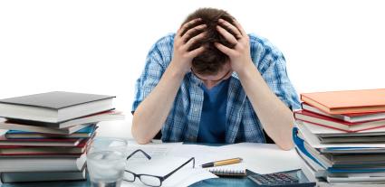 An overwhelmed student!