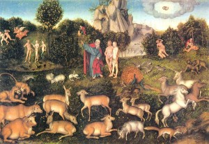 """The Garden of Eden"" by Lucas Cranach der Ältere"