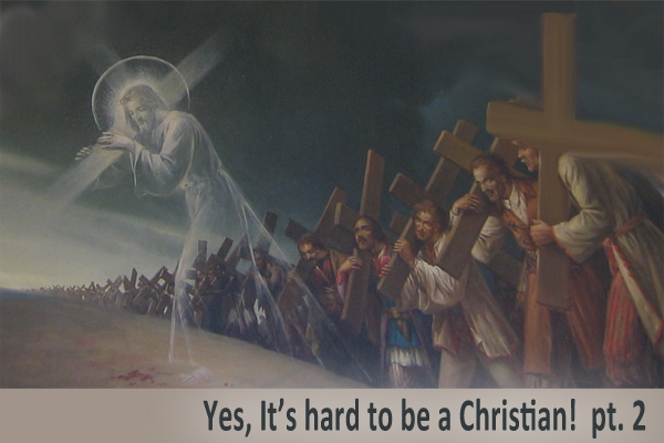 Yes. It's hard to be a Christian (pt. 2)