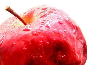 No, the BIble doesn't say the fruit that Adam and Eve ate was an apple.