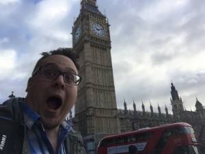 Luke in London (Big Ben)