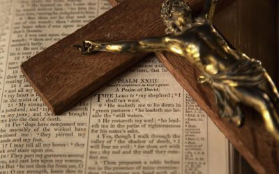A Bible full of Crucifixes